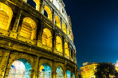 The Colosseum at night in Rome, Italy Stock Photo