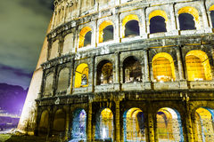 The Colosseum at night in Rome, Italy Royalty Free Stock Images
