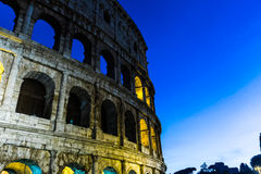 The Colosseum at night in Rome, Italy Stock Photos