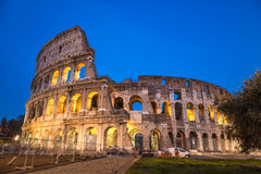 Colosseum at night in Rome Stock Photography