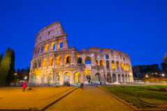 Colosseum at night in Rome, Italy Stock Photography