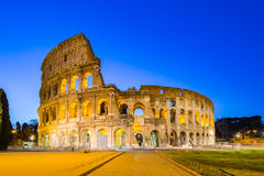 The Colosseum at night in Rome, Italy Stock Photography