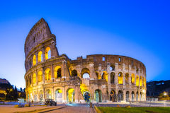 Colosseum at night in Rome, Italy Stock Images