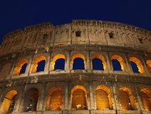 The Colosseum at night. Rome. Italy Stock Photos