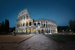 The Colosseum at night, Rome Royalty Free Stock Photography