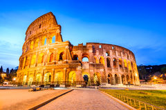 Colosseum in night, Rome, Italy Royalty Free Stock Photography