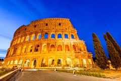 Colosseum in night, Rome, Italy royalty free stock photo