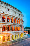 Colosseum in night, Rome, Italy. Rome, Italy. Colosseum, Coliseum or Coloseo,  Flavian Amphitheatre largest ever built symbol of ancient Roma city in Roman Royalty Free Stock Photos