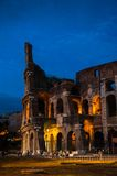 Colosseum at night in Rome, Italy Royalty Free Stock Photography