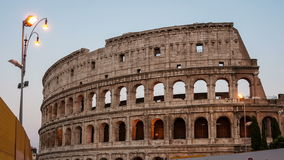 Colosseum at night in Rome, Italy stock footage