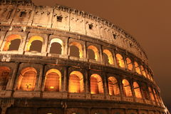 Colosseum at night, Rome, Italy Royalty Free Stock Photos