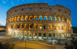 Colosseum by night, Rome, Italy. View of Colosseum by night, Rome, Italy Stock Photos