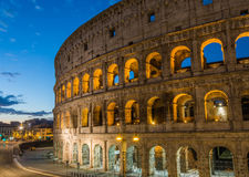 Colosseum by night, Rome, Italy. View of Colosseum by night, Rome, Italy Royalty Free Stock Image