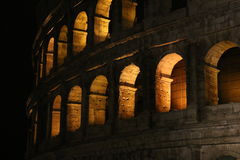 Colosseum at night. Rome, Italy. Stock Photography