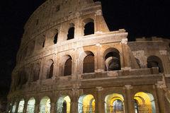 Colosseum at night in Rome. View of illuminated Colosseum at night in Rome Royalty Free Stock Photography