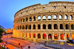 Colosseum at night in Rome. View of Colosseum at night in Rome, Italy Royalty Free Stock Photo
