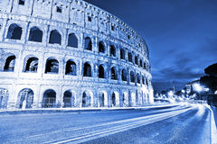 Colosseum at night in Rome. View of Colosseum at night in Rome, Italy Stock Images