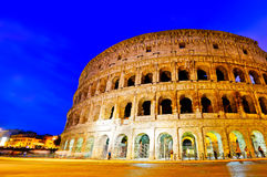Colosseum at night in Rome Stock Image
