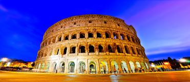 Colosseum at night in Rome. View of Colosseum at night in Rome, Italy Royalty Free Stock Image