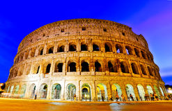 Colosseum at night in Rome. View of Colosseum at night in Rome, Italy Royalty Free Stock Photography