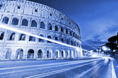 Colosseum at night in Rome. View of Colosseum at night in Rome, Italy Stock Photography