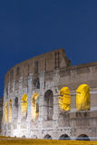 Colosseum night scene Stock Photography