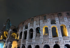 Colosseum night scene Stock Photos