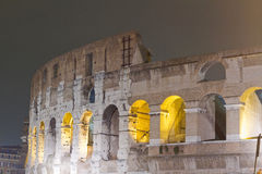 Colosseum night scene stock images