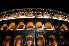 Colosseum night view Royalty Free Stock Photos