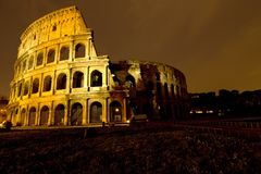 The Colosseum, Night view Stock Photo