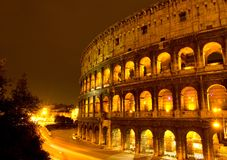 The Colosseum, Night view Stock Images