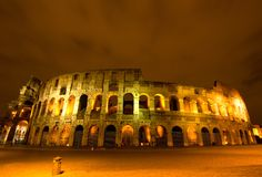 The Colosseum, Night view Royalty Free Stock Photography
