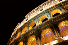 Colosseum night view Stock Images