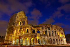 Colosseum night view. Rome,Italy Stock Photo