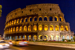 Colosseum nocą, Rzym Fotografia Royalty Free