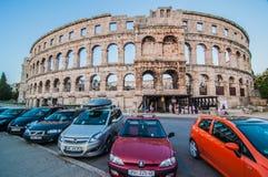 Colosseum nos Pula, Croácia Imagem de Stock Royalty Free