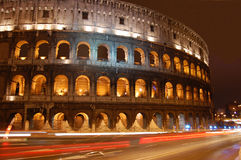 Colosseum-Notte Fotografie Stock Libere da Diritti