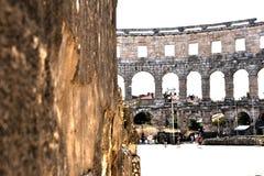 The Pula Arena, Croatia royalty free stock photos