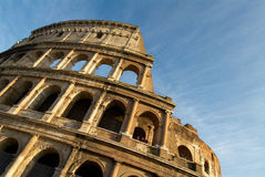 Colosseum one. Colosseum in rome against blue sky Stock Photo