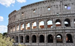 A detail of the Colosseum, the most visited monument in the city of Rome Royalty Free Stock Photography