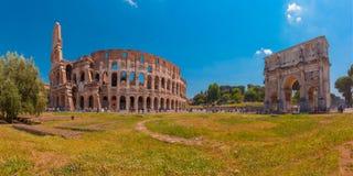 Colosseum ou coliseu em Roma, Itália fotografia de stock