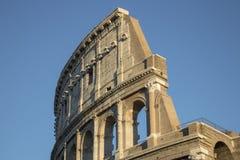 Colosseum ou Flavian Amphitheatre Detail, Roma, Itália fotografia de stock