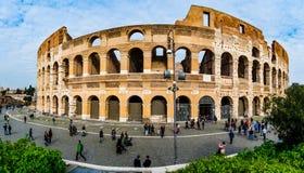 Colosseum ou Flavian Amphitheatre em Roma, Itália imagem de stock royalty free