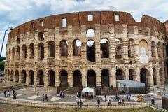 Colosseum ou Flavian Amphitheatre em Roma Italy foto de stock