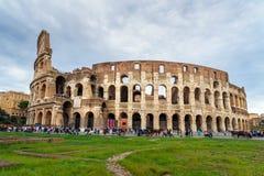 Colosseum ou Flavian Amphitheatre em Roma Italy imagem de stock royalty free
