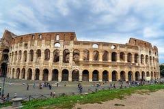 Colosseum ou Flavian Amphitheatre em Roma Italy fotos de stock royalty free