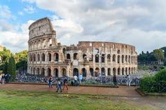 Colosseum ou Flavian Amphitheatre em Roma Italy foto de stock royalty free