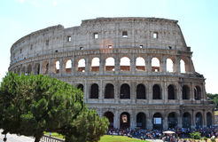 The Colosseum. From the outside and arch of Constantine. Rome, Italy Royalty Free Stock Images