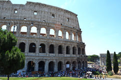The Colosseum from the outside. Rome, Italy. The Colosseum from the outside and arch of Constantine. Rome, Italy Royalty Free Stock Images