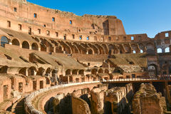 Colosseum - an outstanding monument of architecture of Ancient R Royalty Free Stock Photos